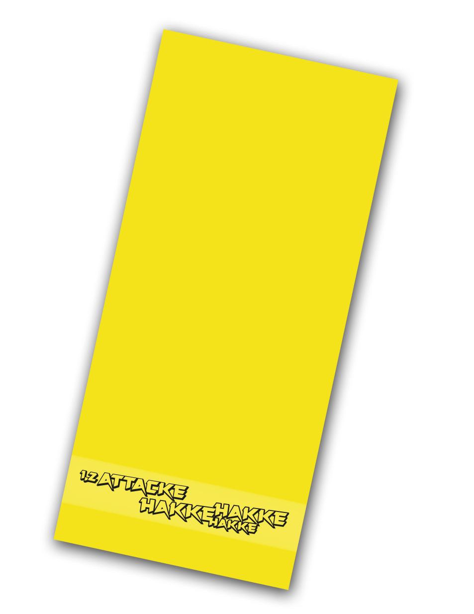 Hakke Hakke Hakke Handtuch schwarz auf gelb