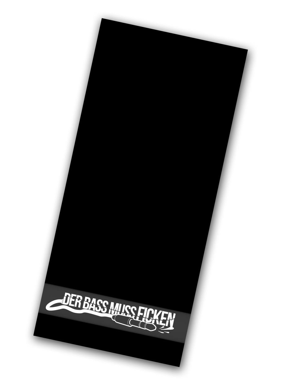 Der Bass muss ficken Handtuch weiß auf schwarz