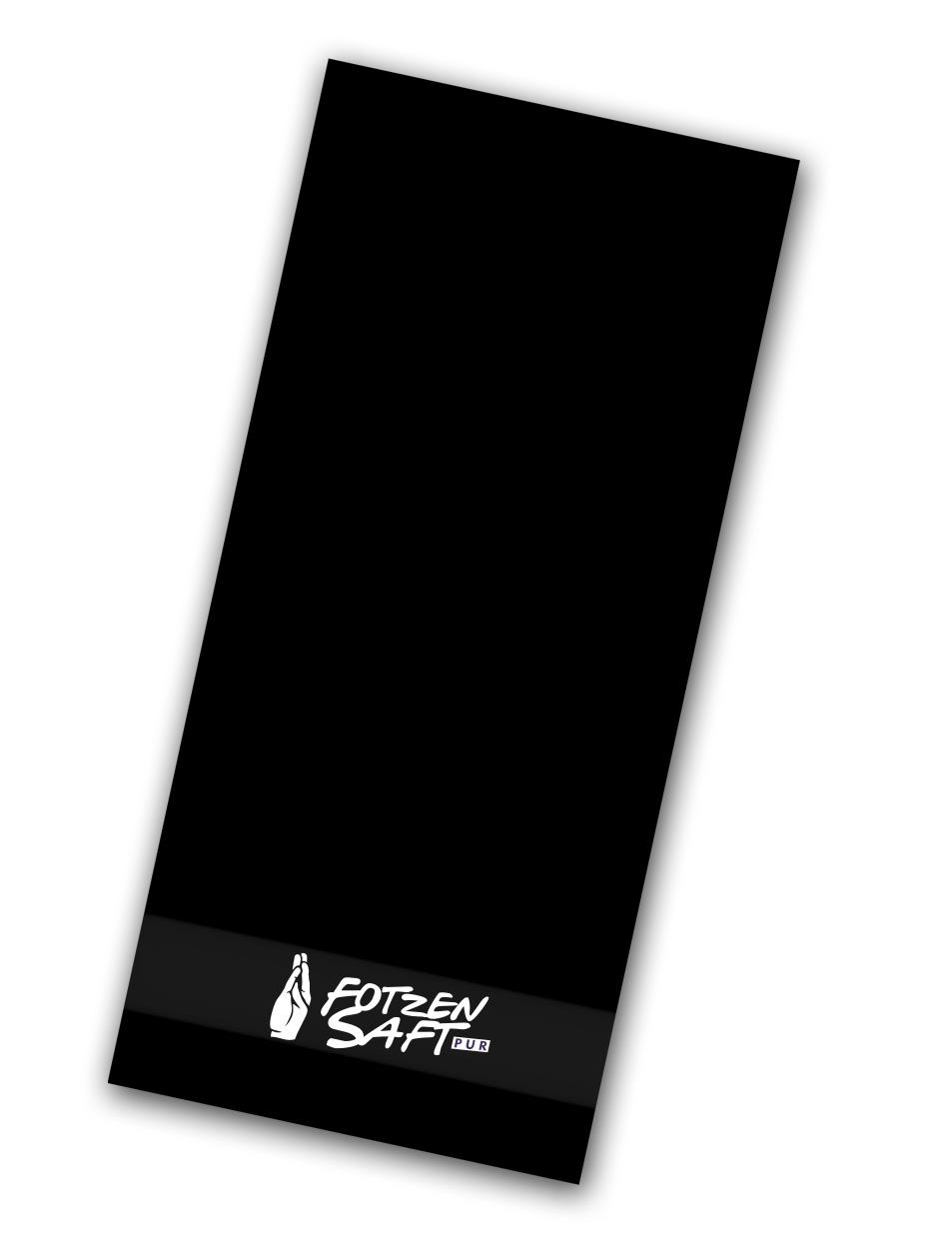 Fotzensaft Handtuch - 3er Bundle weiß auf schwarz