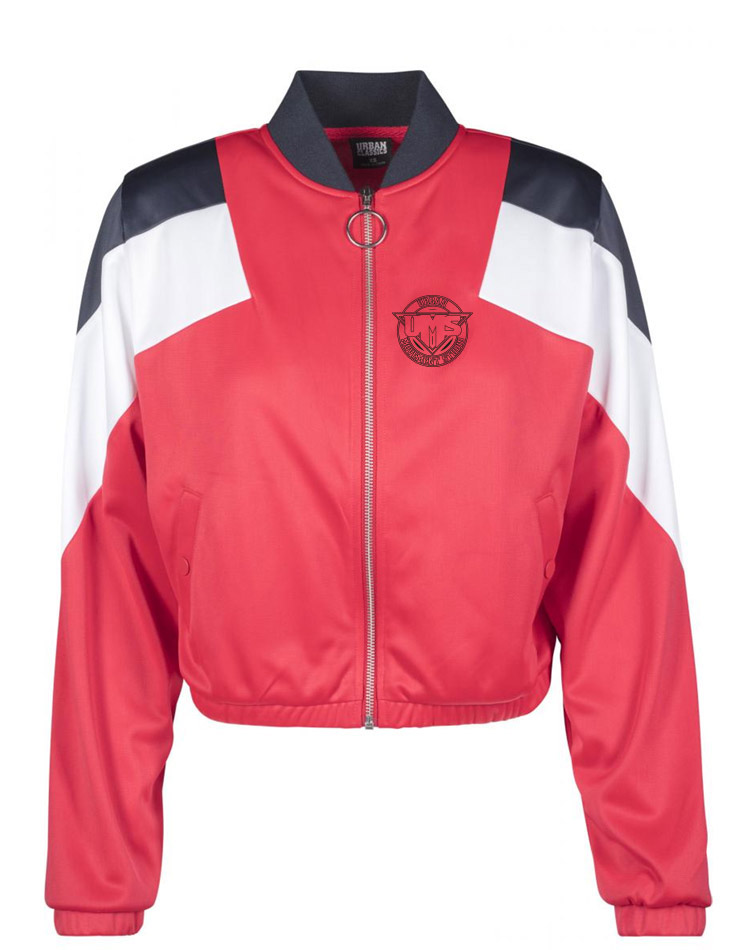UMS Ladies 3-Tone Track Jacket schwarz auf firered/navy/white