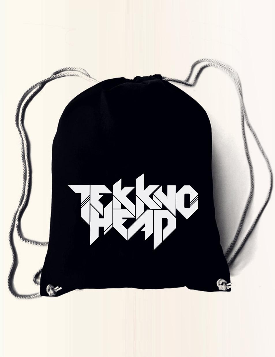 TEKKNOHEAD Rucksack mehrfarbig auf schwarz