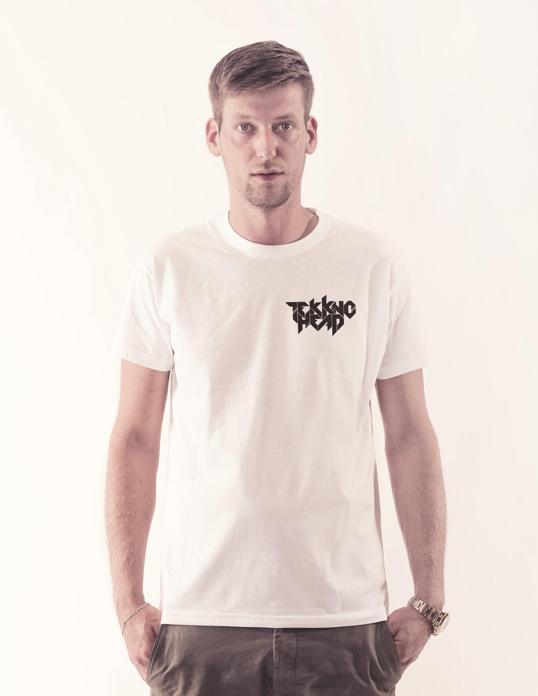 TEKKNOHEAD BRAND Shirt schwarz auf weiß