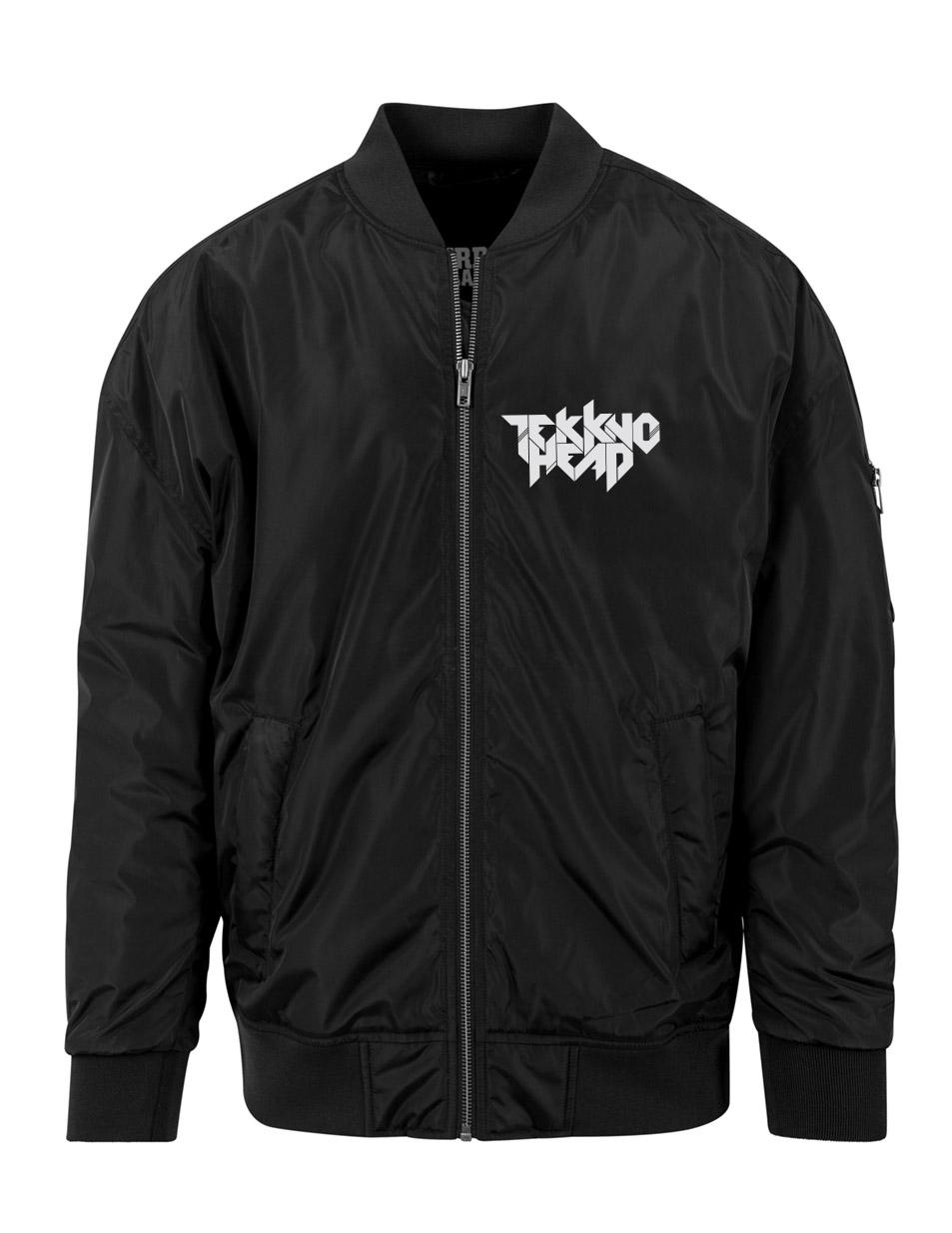 TEKKNOHEAD Overzised Bomber Jacket mehrfarbig auf schwarz