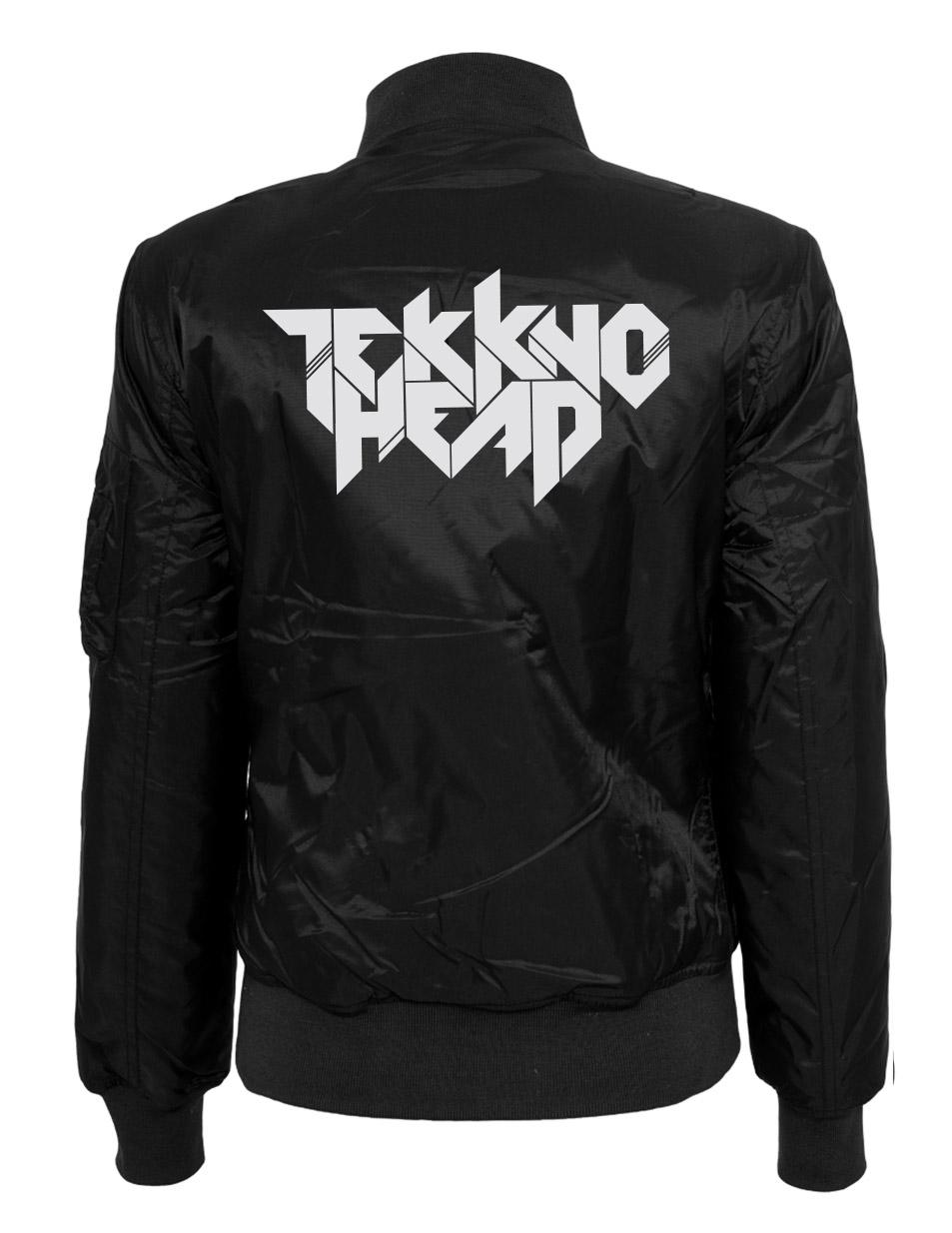 TEKKNOHEAD Ladies Bomber Jacket mehrfarbig auf schwarz