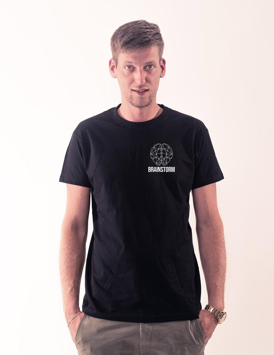 Brainstorm T-Shirt weiß auf schwarz
