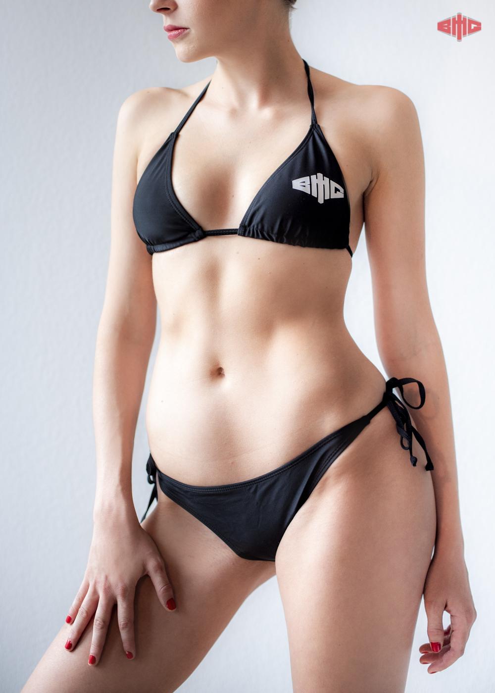 BMG Bikini weiß auf schwarz