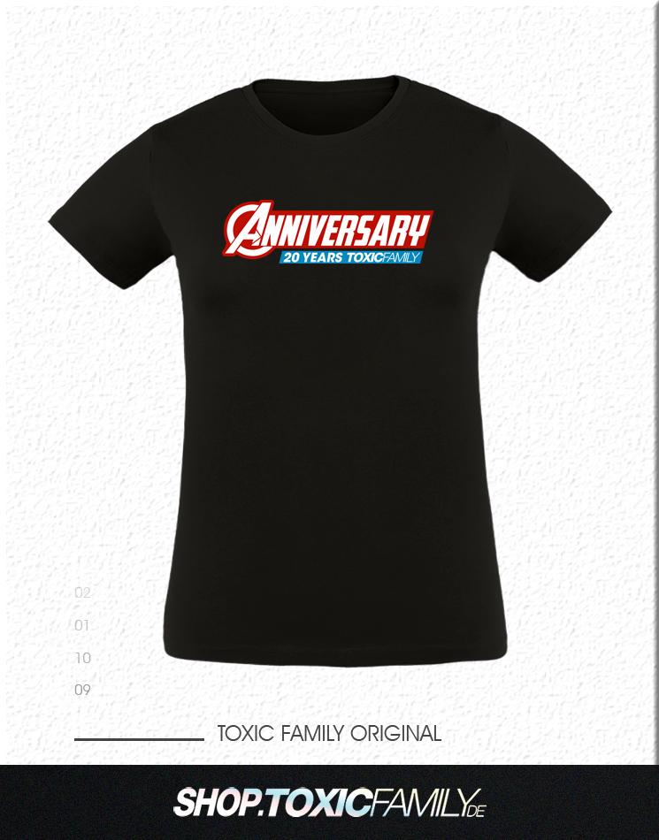 20 Jahre Toxic Family Anniversary - Limitiert mehrfarbig auf schwarz