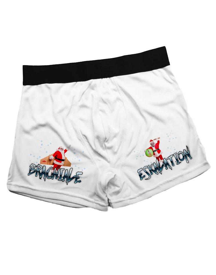 Brachiale Eskalation Boxershorts mehrfarbig auf weiß