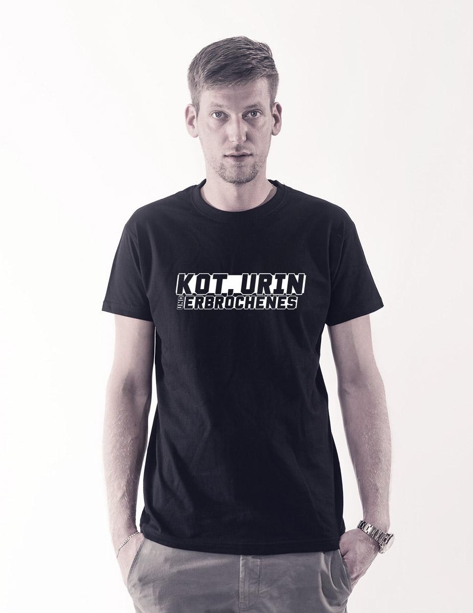 Kleiner Abkacker T-Shirt weiß auf schwarz