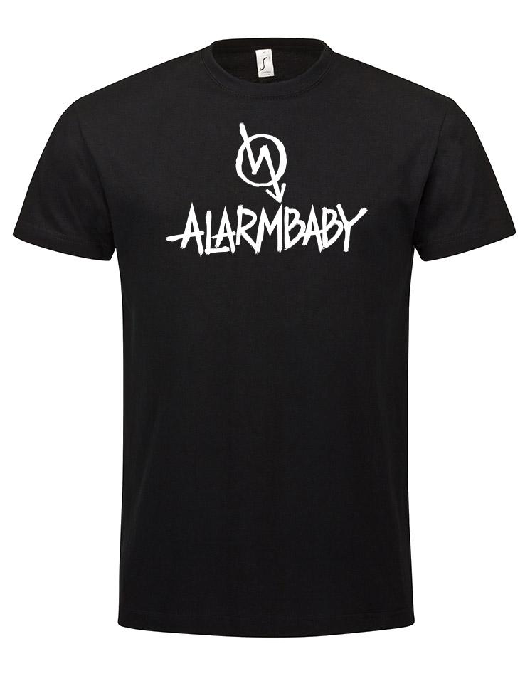 Alarmbaby BigPrint Shirt white on black
