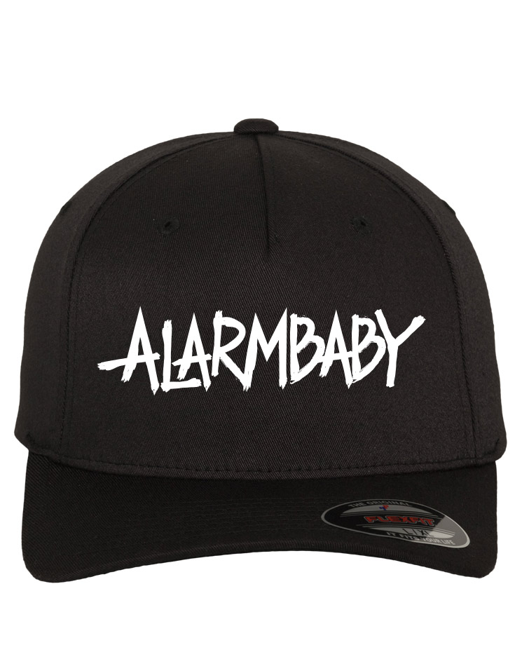 Alarmbaby Cap weiß auf schwarz
