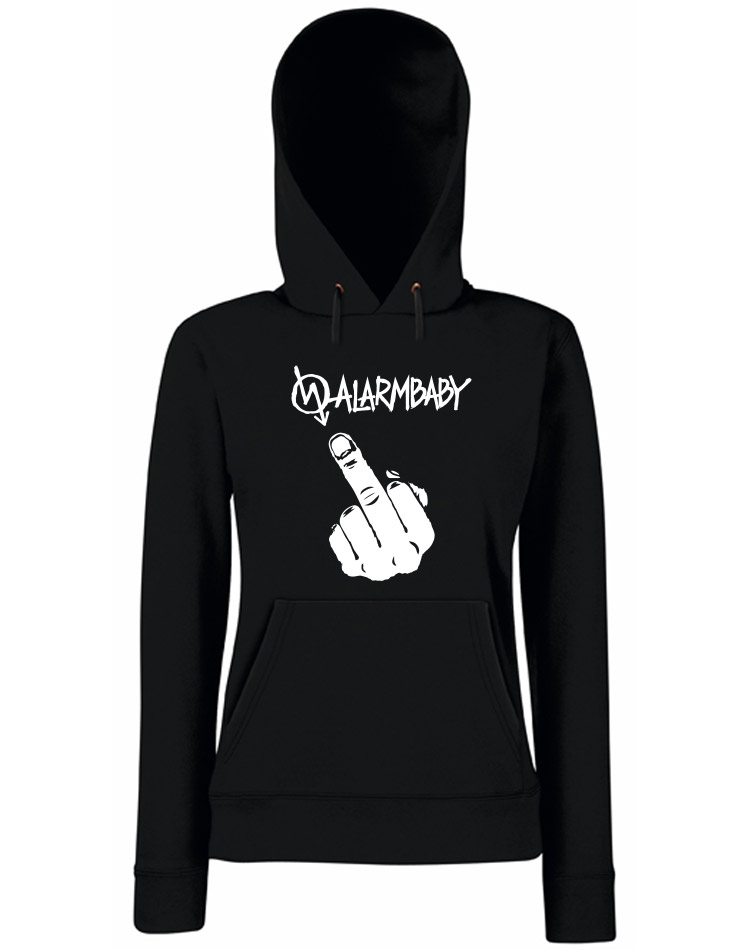 Alarmbaby Fuck You Girly Hoodie schwarz