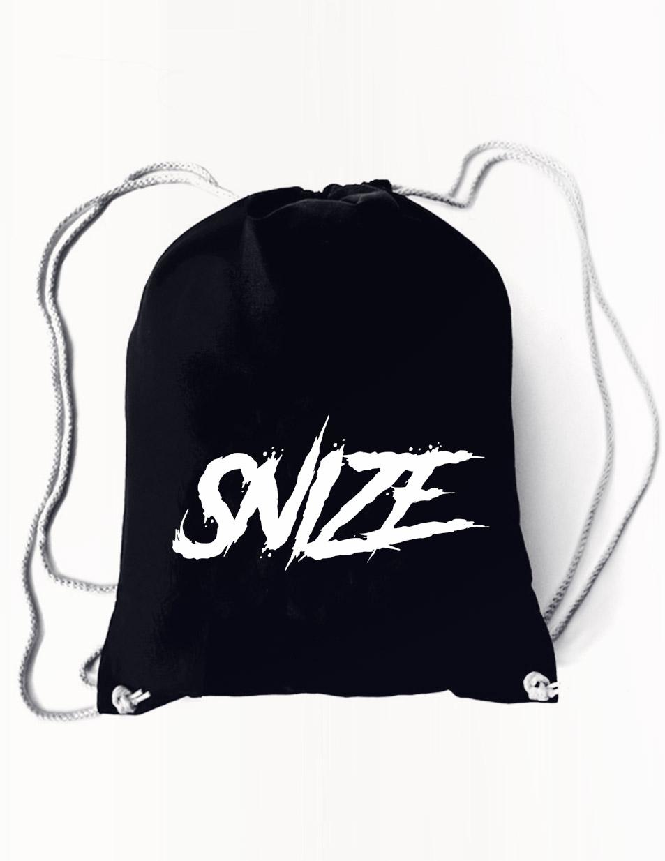 SNIZE Rucksack weiß auf schwarz
