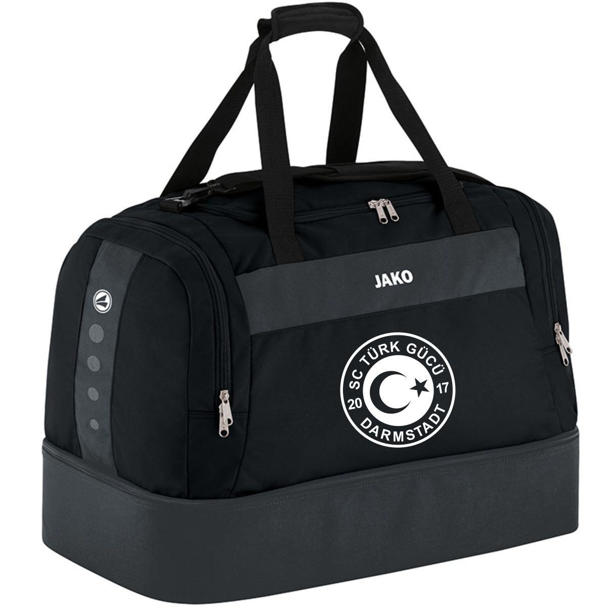 Kinder Sporttasche Classico mit Bodenfach Druck weiß