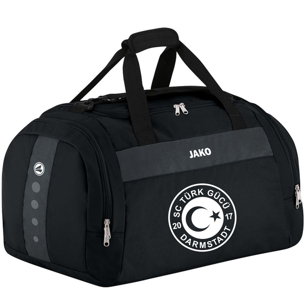Kinder Sporttasche Classico ohne Bodenfach Druck weiß