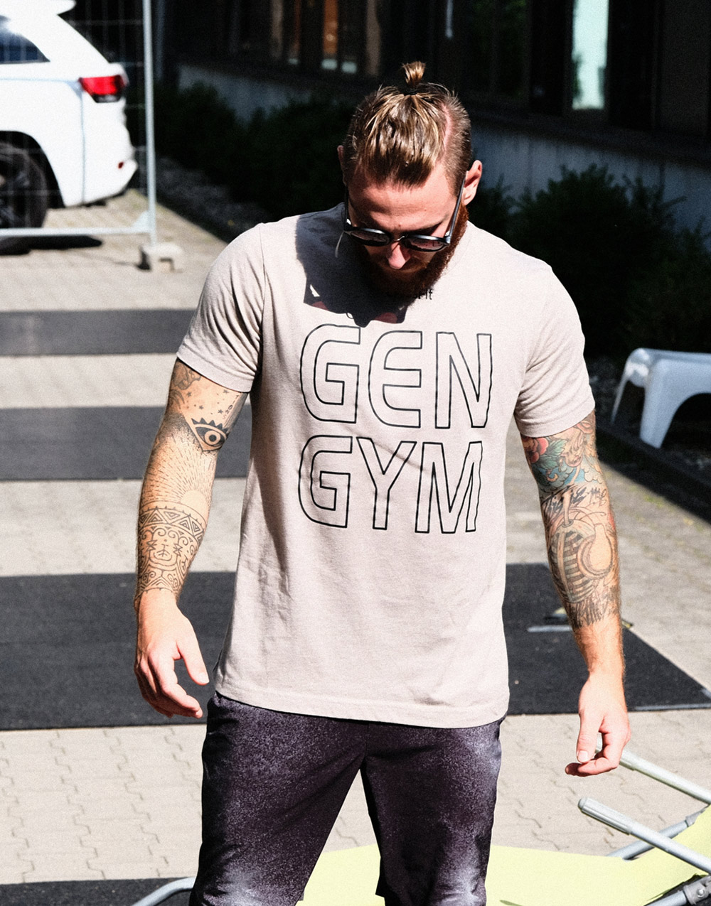GEN GYM Shirt grau