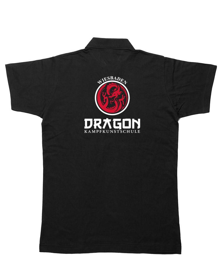 Dragon Polo Shirt Wiesbaden schwarz - Wiesbaden