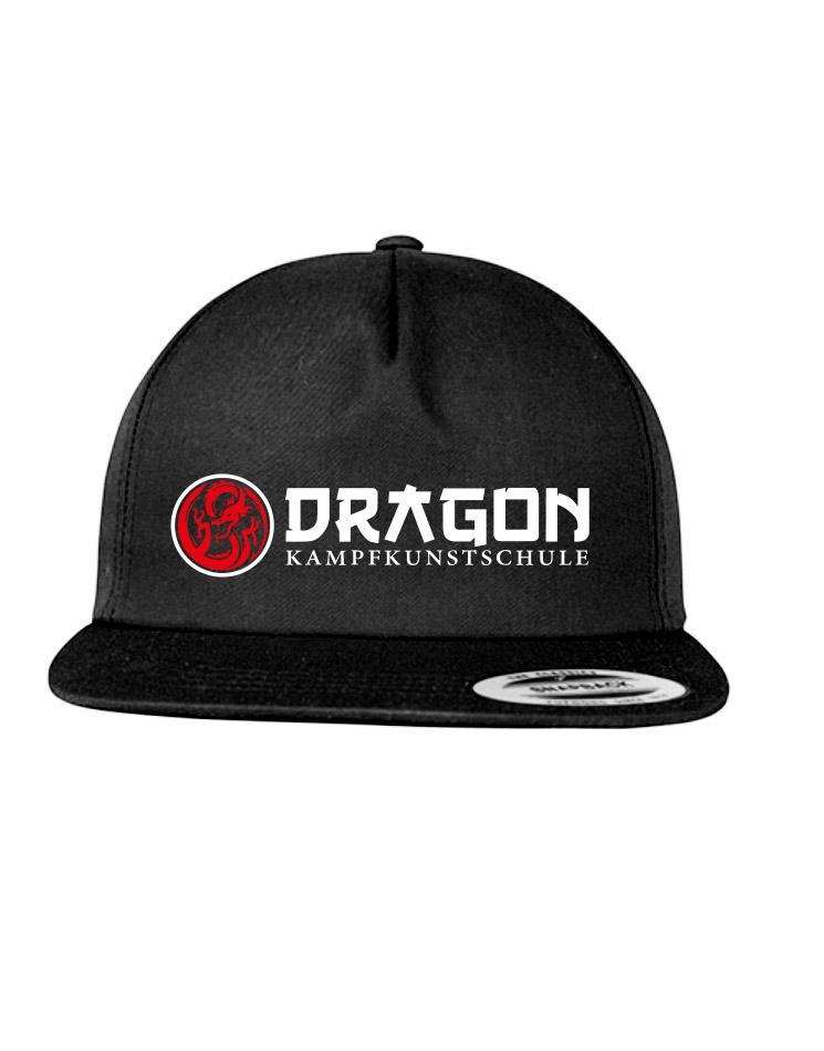 Dragon Snapback mit flachem Schirm mehrfarbig auf schwarz