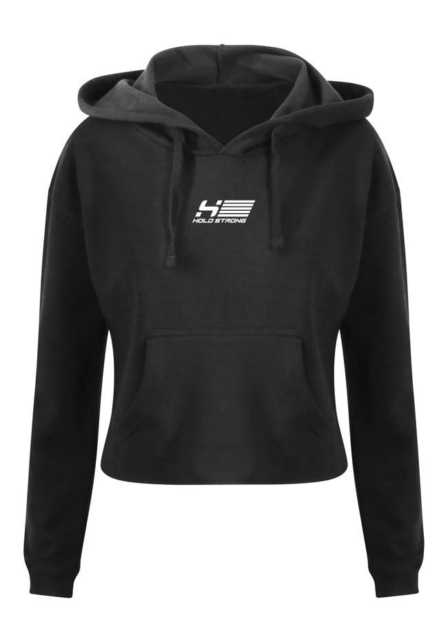 HOLD STRONG Fitness Crop Hoodie Women
