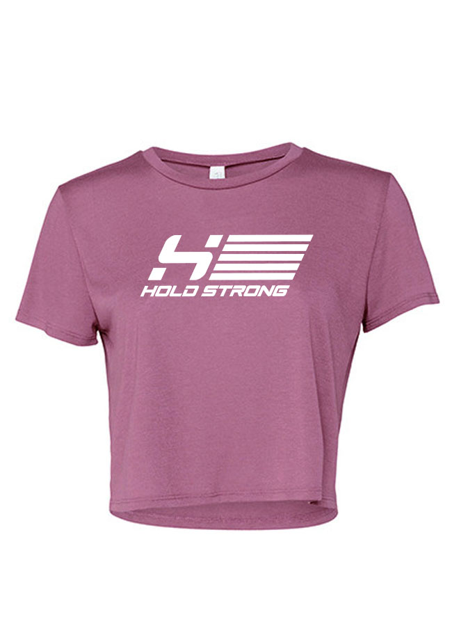 HOLD STRONG Fitness Athlete Crop T-Shirt Women