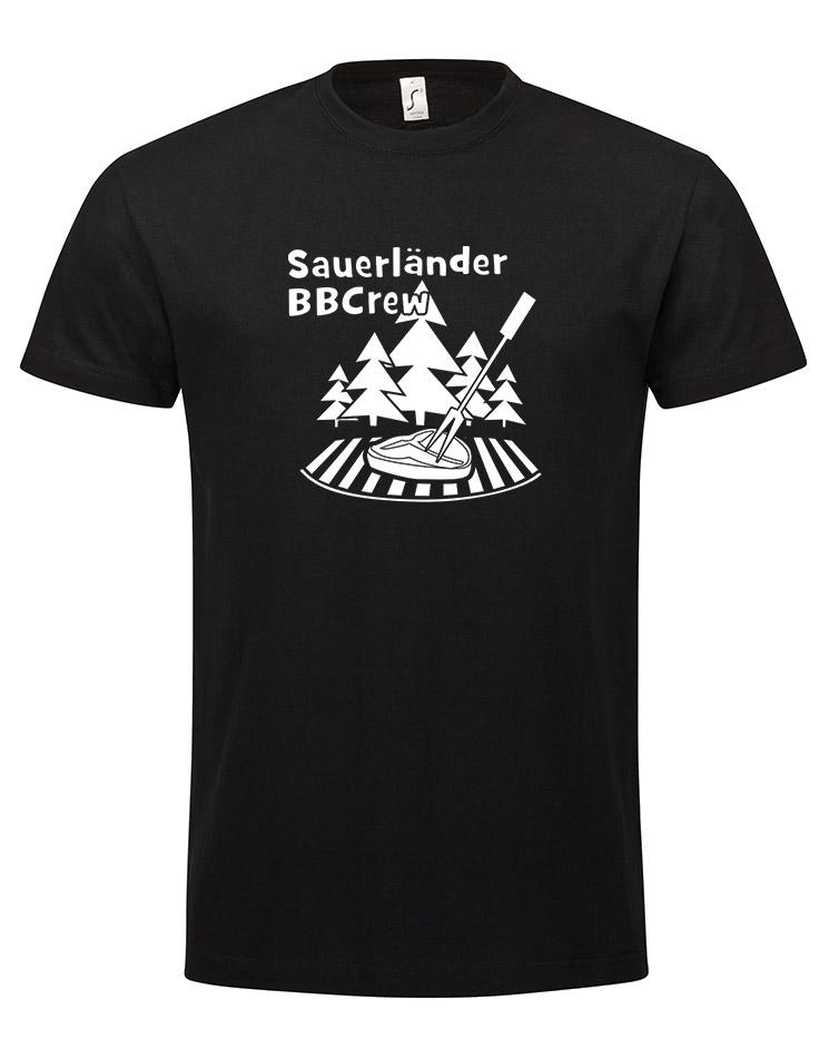 Sauerländer BBCrew T-Shirt weiß auf schwarz