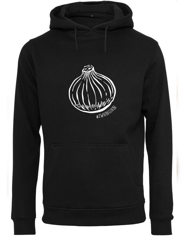 Onion Unisex Hoodie weiß auf schwarz