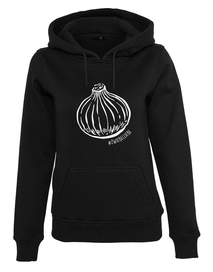 Onion Damen Hoodie weiß auf schwarz