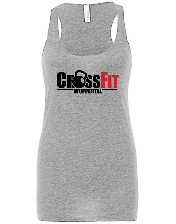 CrossFit Wuppertal Girly Tank Top mehrfarbig auf grey triblend