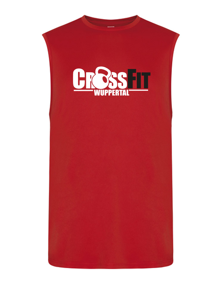 CrossFit Wuppertal Unisex Tank Top mehrfarbig auf rot