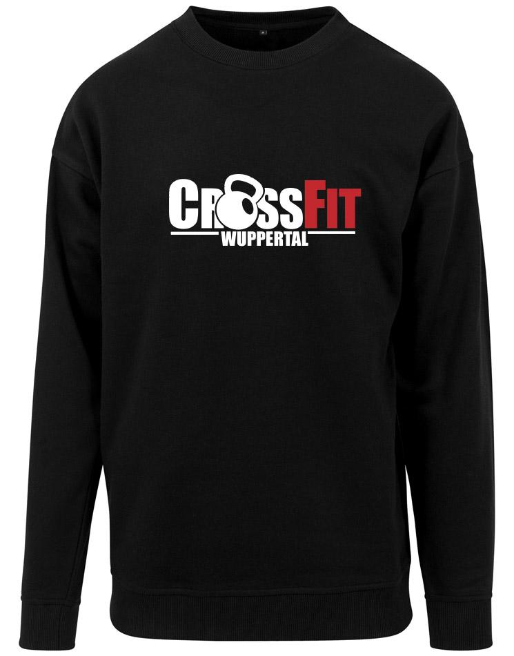 CrossFit Wuppertal Fitness Crew Neck Sweatshirt mehrhfarbig auf schwarz