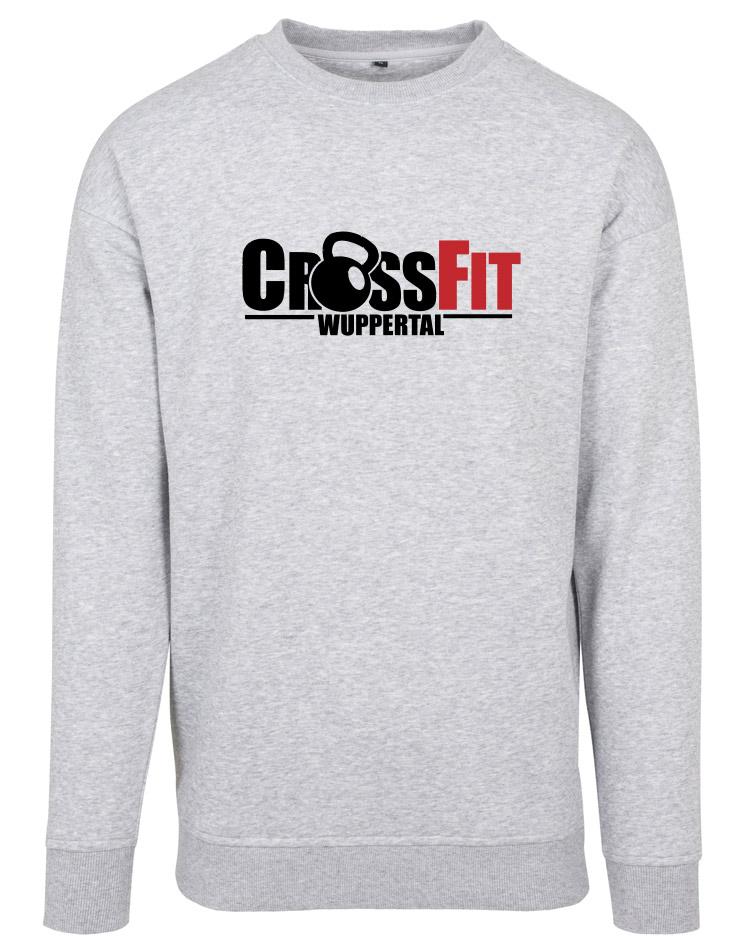 CrossFit Wuppertal Fitness Crew Neck Sweatshirt mehrhfarbig auf heather grey