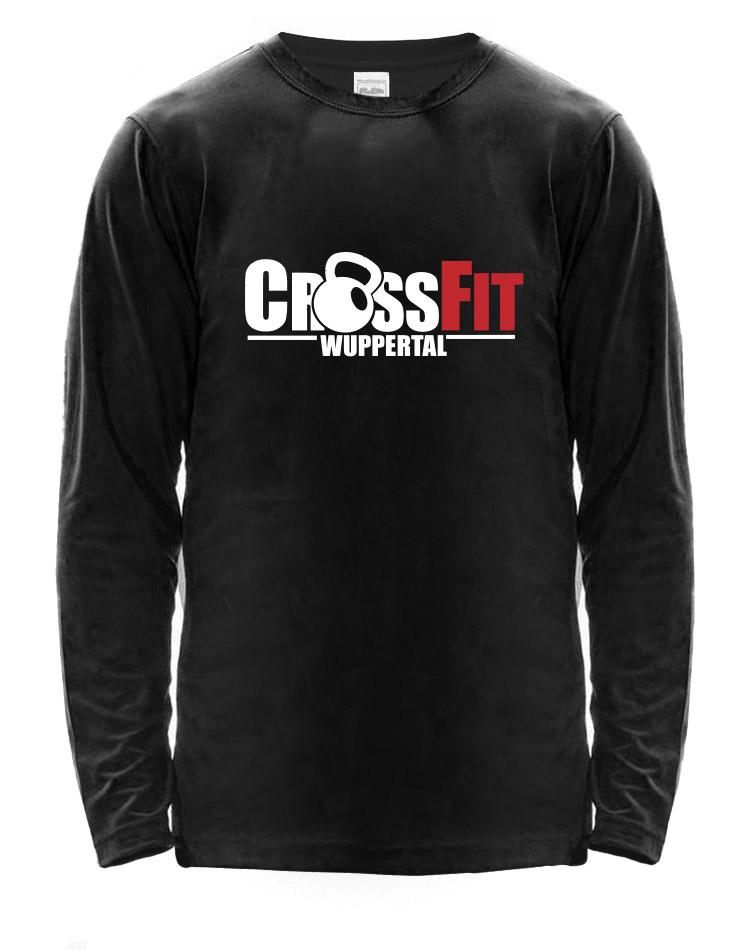 CrossFit Wuppertal Fitness Athlete Longsleeve Men mehrfarbig auf schwarz