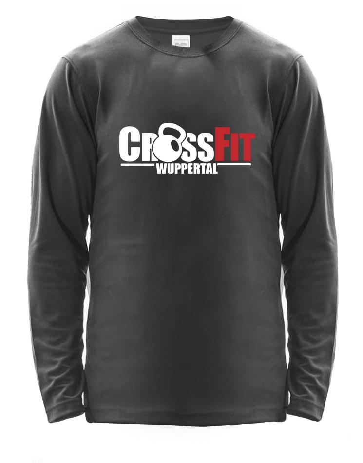 CrossFit Wuppertal Fitness Athlete Longsleeve Men mehrfarbig auf charcoal
