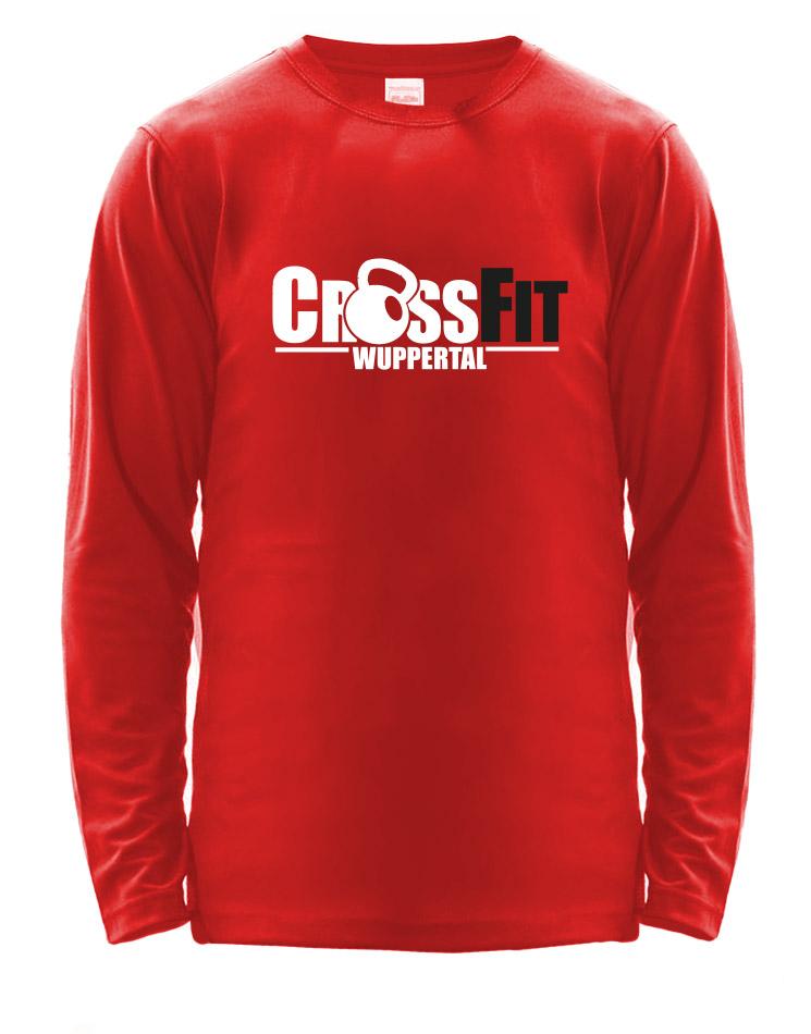 CrossFit Wuppertal Fitness Athlete Longsleeve Men mehrfarbig auf fire red