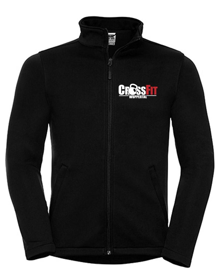 CrossFit Wuppertal Fitness Softshell Jacket Men mehrfarbig auf schwarz