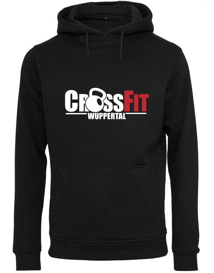 CrossFit Wuppertal Fitness Hoodie Men mehrfarbig auf schwarz