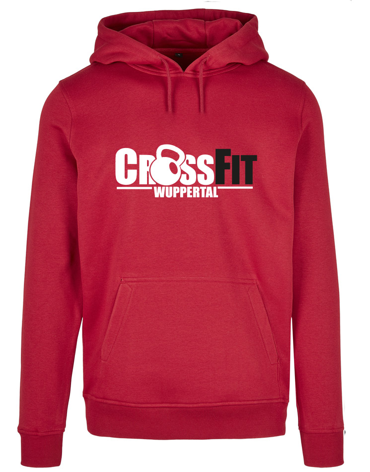 CrossFit Wuppertal Fitness Hoodie Men mehrfarbig auf city red