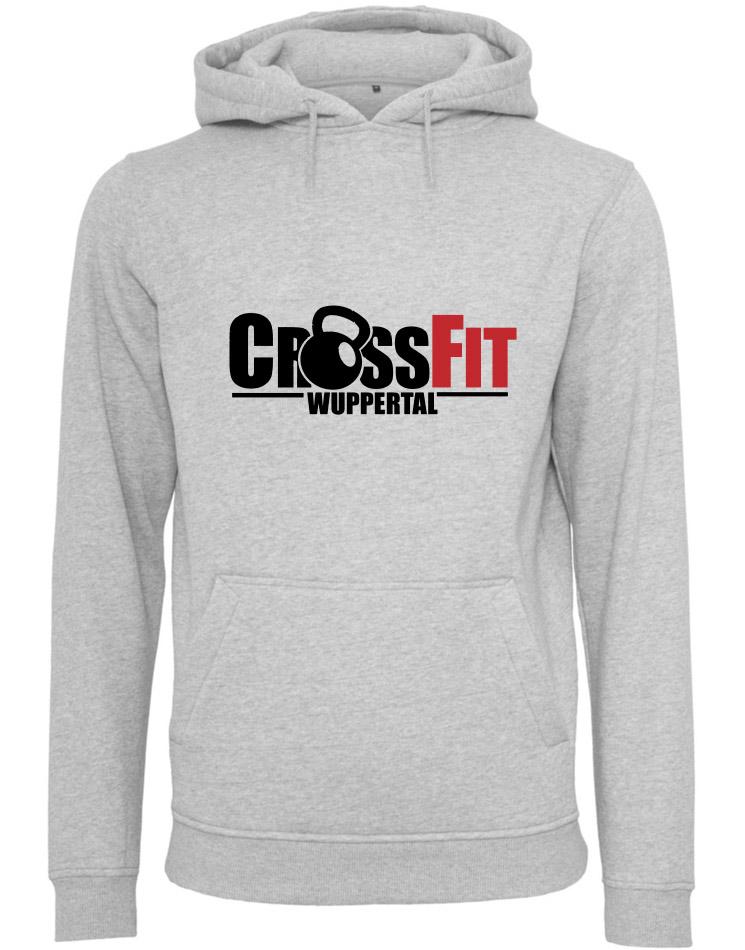 CrossFit Wuppertal Fitness Hoodie Men mehrfarbig auf heather grey
