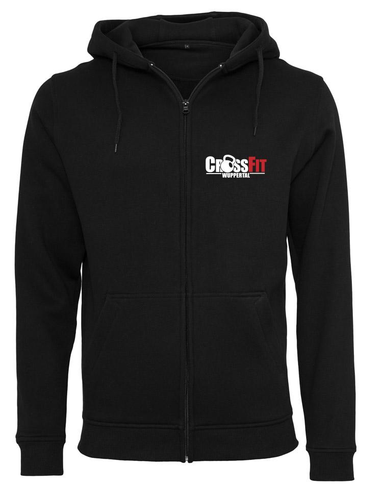 CrossFit Wuppertal Fitness Zip Hoodie Men mehrfarbig auf schwarz