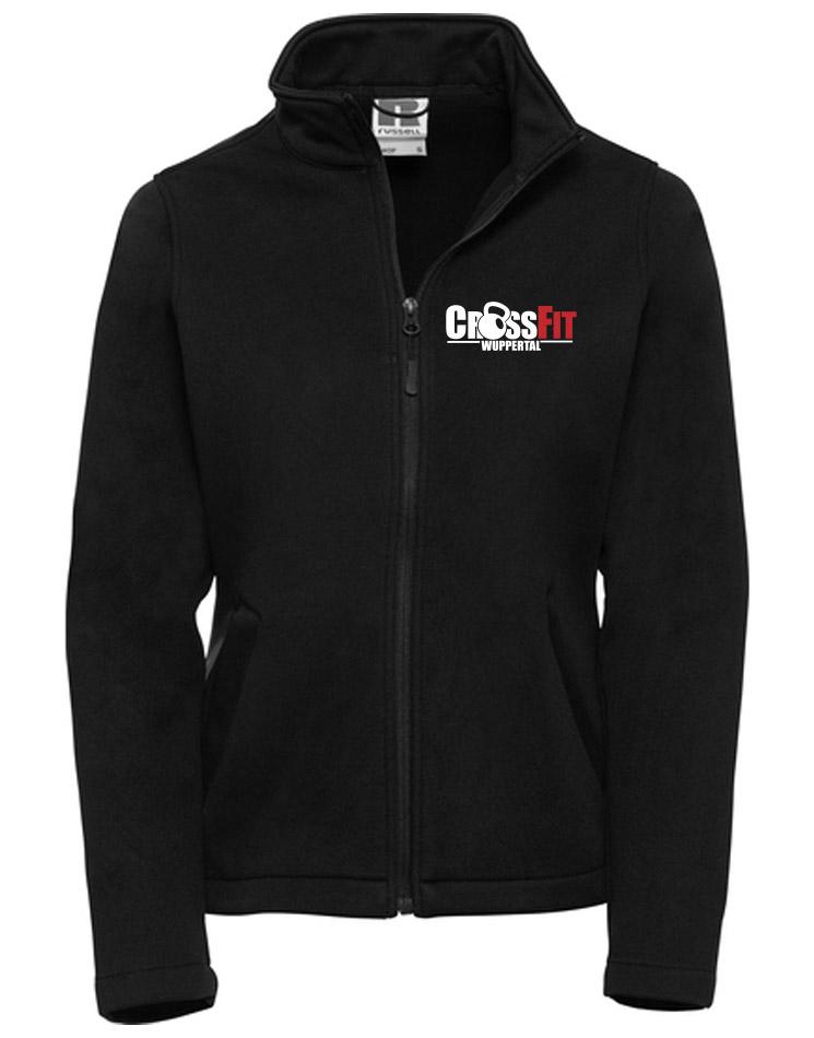 CrossFit Wuppertal Fitness Softshell Jacket Women mehrfarbig auf schwarz