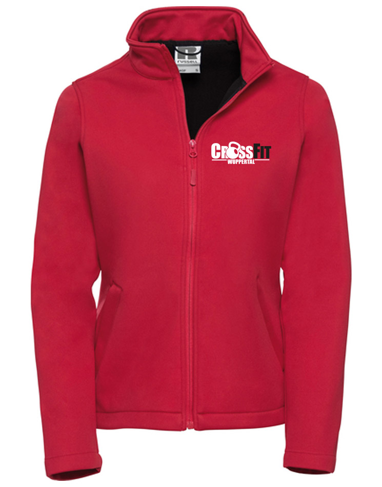 CrossFit Wuppertal Fitness Softshell Jacket Women mehrfarbig auf classic red