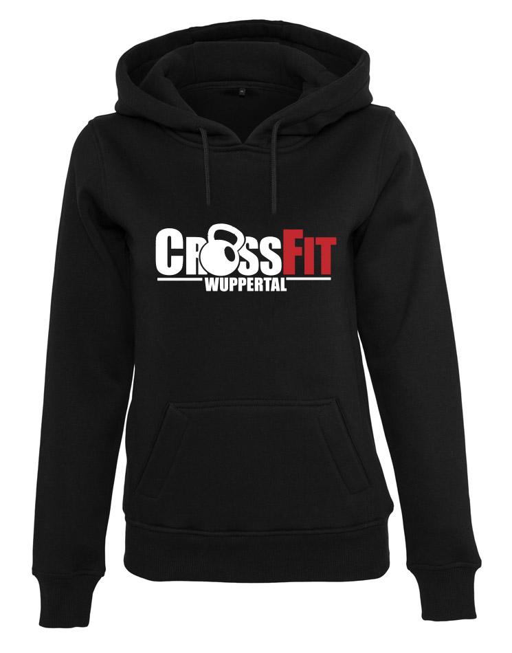 CrossFit Wuppertal Fitness Hoodie Women mehrfarbig auf schwarz
