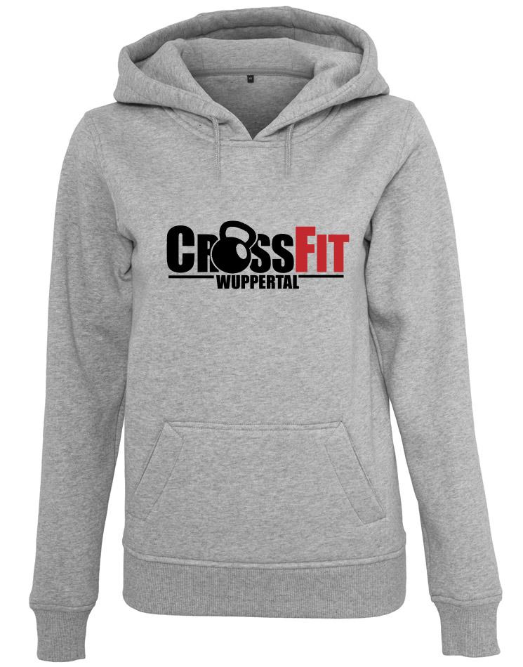 CrossFit Wuppertal Fitness Hoodie Women mehrfarbig auf heather grey