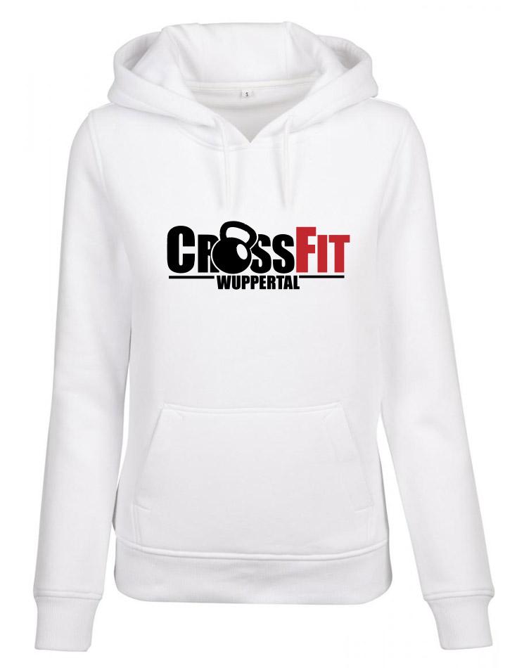 CrossFit Wuppertal Fitness Hoodie Women mehrfarbig auf weiss