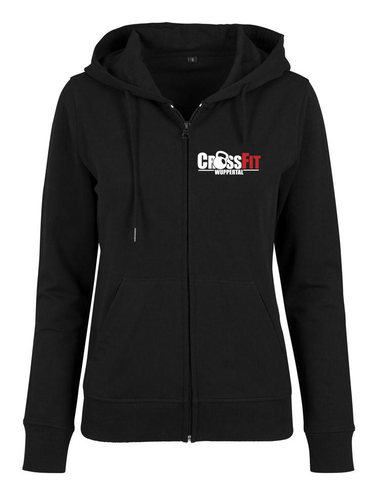 CrossFit Wuppertal Fitness Zip Hoodie Women mehrfarbig auf schwarz
