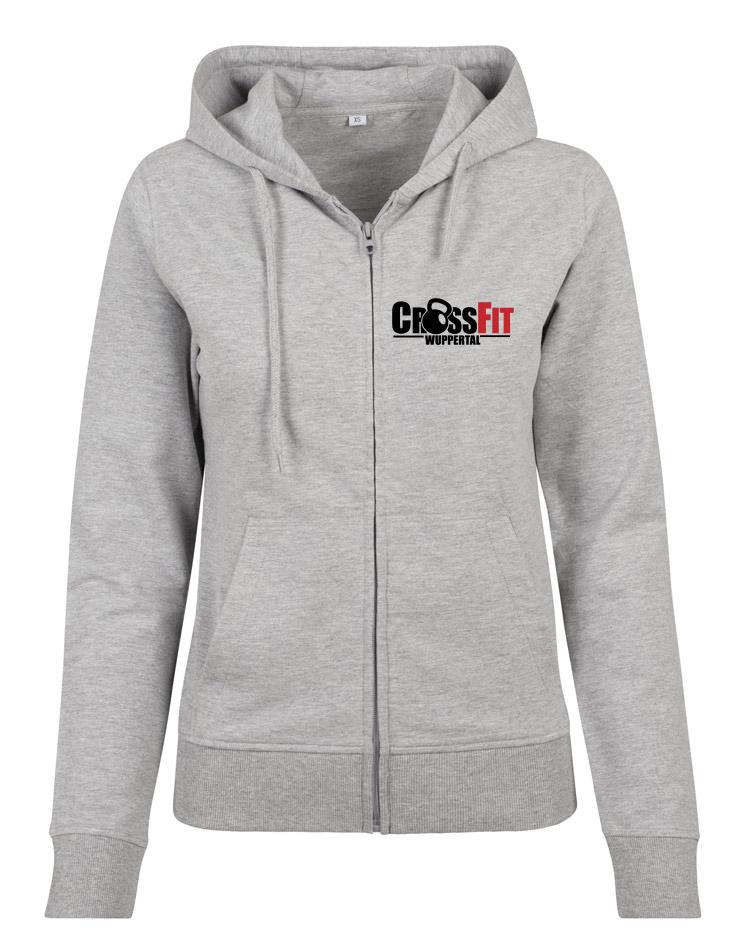 CrossFit Wuppertal Fitness Zip Hoodie Women mehrfarbig auf heather grey