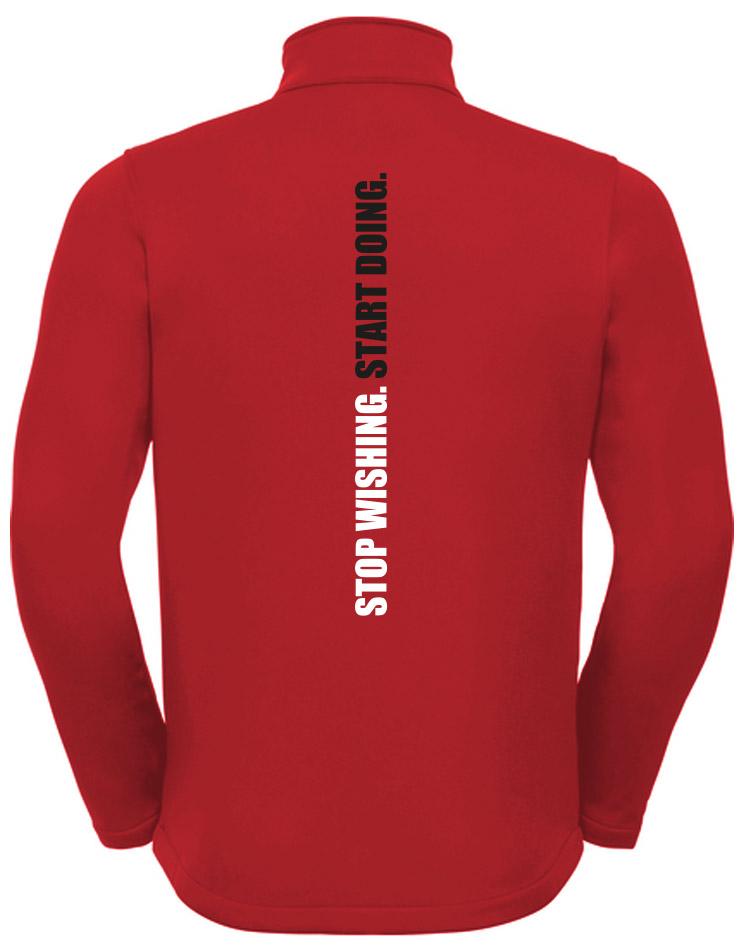 CrossFit Wuppertal Stop Wishing Start Doing Softshell Jacket Men