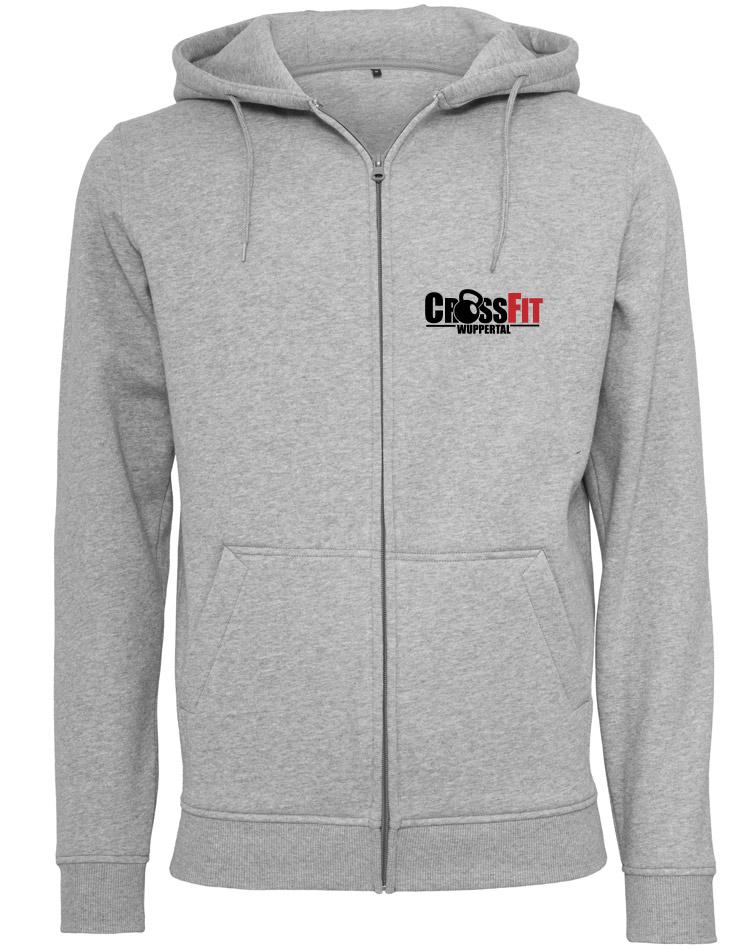CrossFit Wuppertal Stop Wishing Start Doing Zip Hoodie Men mehrfarbig auf heather grey