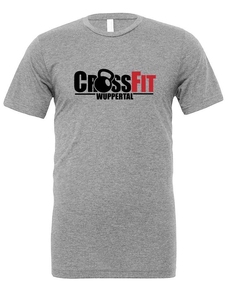 CrossFit Wuppertal Stop Wishing Start Doing Unisex T-Shirt mehrfarbig auf grey triblend