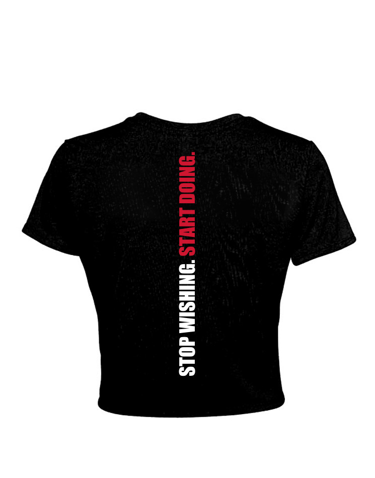 CrossFit Wuppertal Stop Wishing Start Doing Cropped Tee